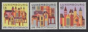 LUXEMBOURG SG1480/2 1998 ECHTERNACH ABBEY MNH