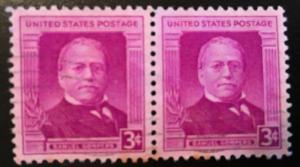 988 Gompers, AFL founder, Circulate Pair, good, Vic's Stamp Stash