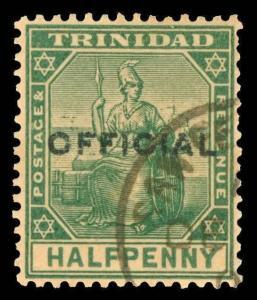 Trinidad Scott O8 Gibbons O8 Used Stamp