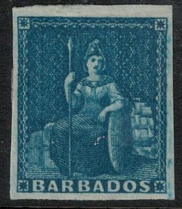 Barbados 1855-1858 SC 6 Mint SCV $110.00
