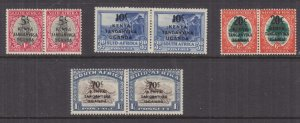 KENYA, UGANDA & TANGANYIKA, 1941 on South Africa set of 4, lhm.