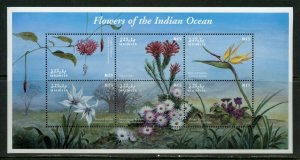 Maldives MNH S/S 2491 Flowers Of Indian Ocean 2010 6 Stamps