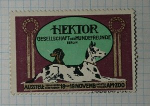 Hektor Society of Dogs Friends Exhibit Exposition Poster Stamp Ads