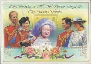 1985 Belize #775-776, Complete Set(2), Souvenir Sheet Only, Never Hinged