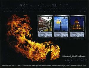 Norfolk Island - Diamond Jubilee - 3 Stamp Sheet - NOR1203