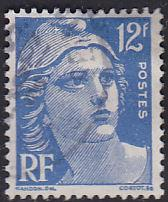 France 601 Hinged Used 1949 Marianne 12Fr