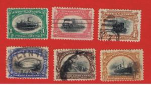 #294-299  VF used  Pan-America Issue complete  Free S/H