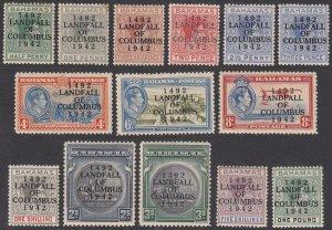 Bahamas 116-129, SG162-175 MNH / MVLH CV $63.45
