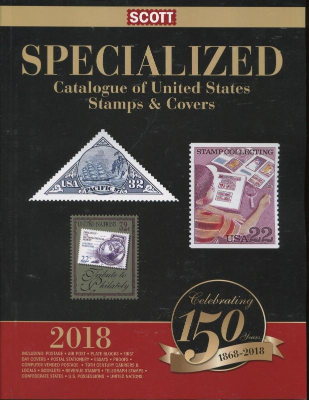 NEW USA 2018 Scott Postage Stamp & Cover Catalogue US Specialized Retail $135