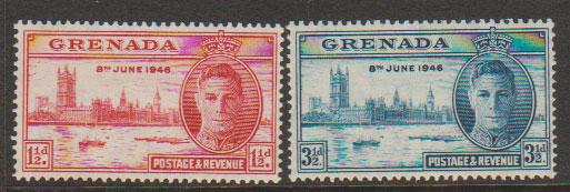 Grenada  George VI SG 164 - 165   Unmounted mint set Victory