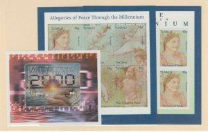 Tuvalu Scott #813-814-815 Stamps - Mint NH Souvenir Sheet Set