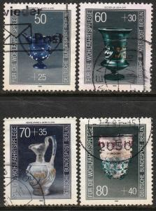 GERMANY-BERLIN 9NB238-9NB241 ANCIENT GLASSWARE SET OF 4. USED. VF. (29)