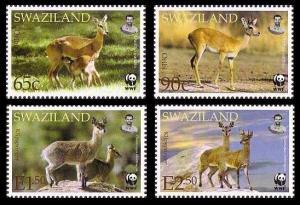Swaziland WWF Klipspringer and Oribi 4v SG#704-707 MI#702-705 SC#698-701