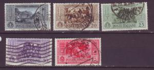 J16962 JLstamps 1932 italy used #280-2,284-6 views