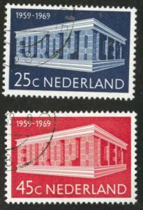 Netherlands Scott 475-476 Used CTO 1969 Europa set