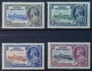 MALAYA STRAITS SETTLEMENTS 1935 SILVER JUBILEE LMM SG256/259 CAT £13