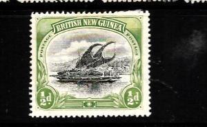 BRITISH NEW GUINEA  1901-05   1/2d  CANOE  MH     SG 9