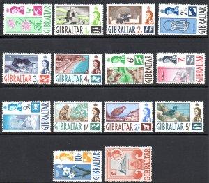 GIBRALTAR 147-60 MNH SCV $82.55 BIN $50.00 PLACES, FLOWERS, ANIMALS (2)