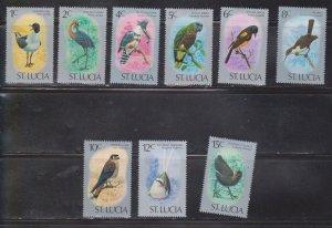 ST LUCIA Scott # 387-95 MH - Birds