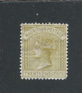 MAURITIUS 1879-80 25c OLIVE-YELLOW MM SG 97 CAT £475