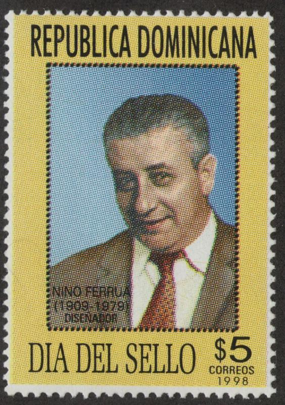 DOMINICAN REPUBLIC MNH Scott # 1286 Stamp Day (1 Stamp)