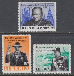 Liberia 432-433,C170 Churchill MNH VF