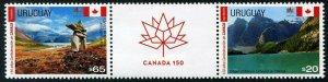 HERRICKSTAMP NEW ISSUES URUGUAY Sc.# 2599 150th Anniv. Canada