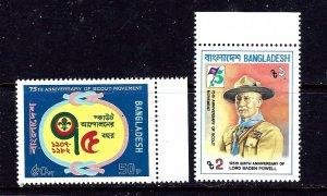 Bangladesh 209-10 MNH 1982 Boy Scouts