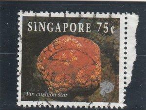 Singapore  Scott#  681  Used  (1994 Pin Cushion Star)