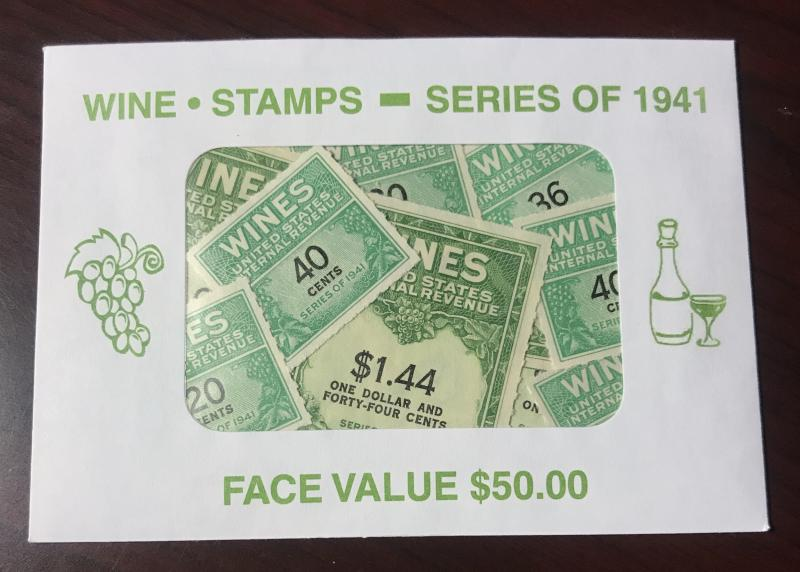Wine Stamp Collection 46 Different MINT NH 1941 CAT. $146.40  $50 Face