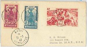 45072  - MARTINIQUE -  POSTAL HISTORY: COVER to USA 1947