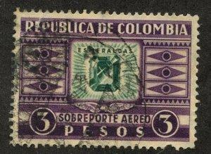 Colombia, Scott #C109, Used