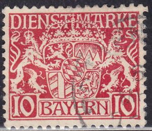 Bayern O10 Hinged 1916 Coat of Arms