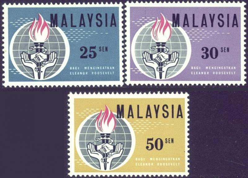 Honoring Eleanor Roosevelt Stamps Of Malaysia