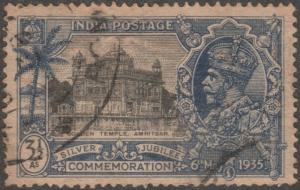 India stamp, Scott#147, used, silver jubilee issue, golden temple, #M092