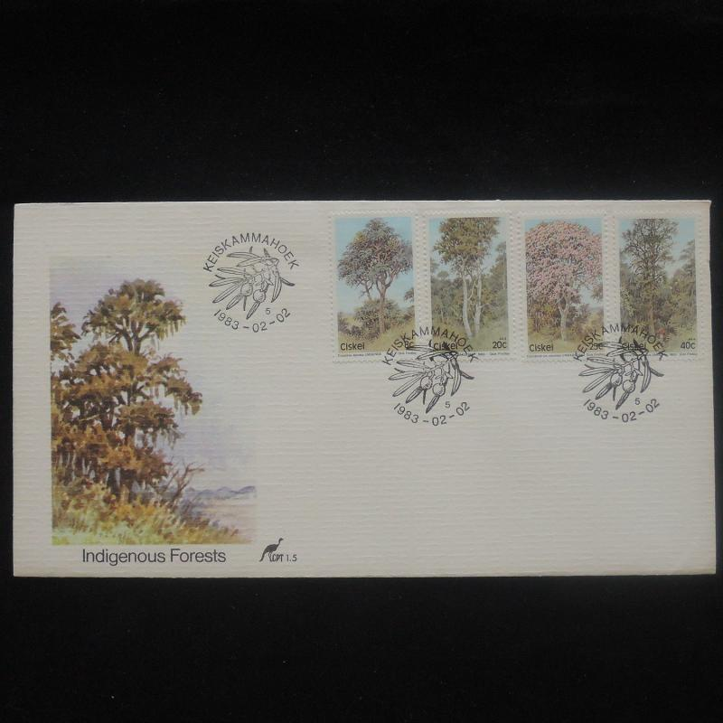 ZS-P227 PLANTS - Ciskei, Nature, Indigenous Forests, Fdc 1983 Cover