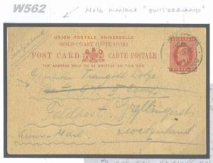 W562 1914 GOLD COAST WW1 Endorsed 'Switzerland' m/s Neutral Country {samwells}