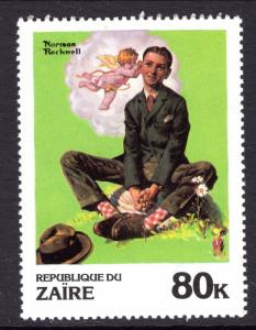 Zaire 1008 Norman Rockwell Painting MNH VF