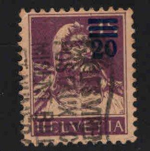 Switzerland Scott 197 Used Surcharged William Tell stamp