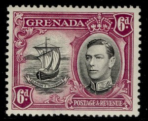 GRENADA GVI SG159a, 6d black and purple, LH MINT.
