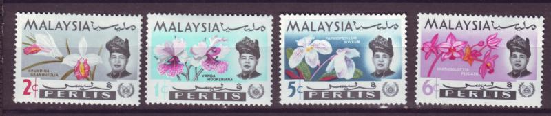 J18018 JLstamp  [low price] 1965 malaya perlis from set mh #40-3 flowers