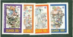 UGANDA 1703-6 MNH CV$ 4.25 BIN$ 2.25