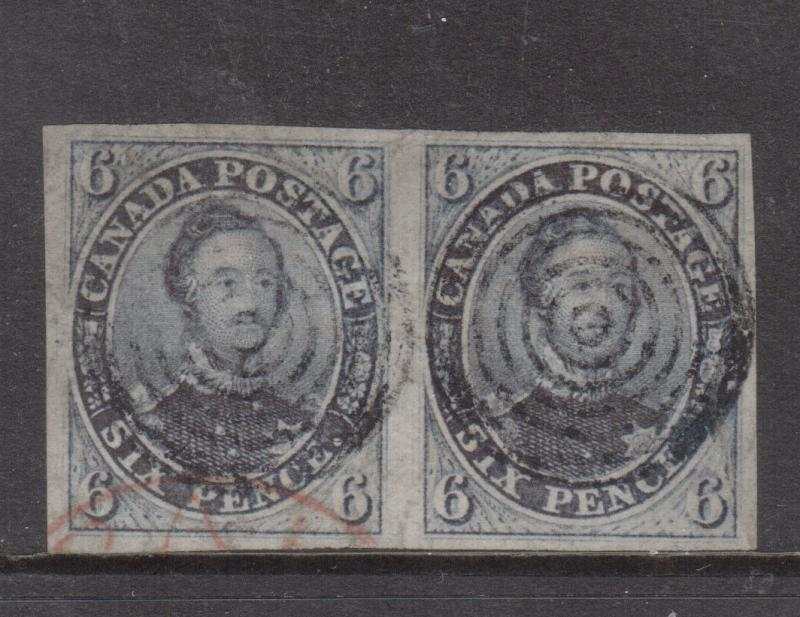 Canada #2 Extra fine Used Scarce Pair **With Certificate**