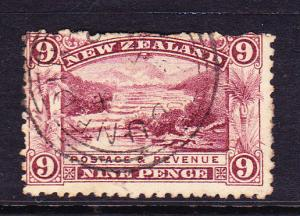 NEW ZEALAND 1898-07  9d PICTORIAL   FU P11 WMK REV  SG 314x