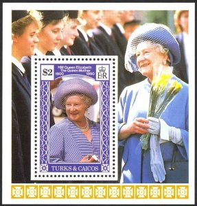 Turks & Caicos Islands Sc# 858 MNH 1990 $2.00 Queen Mother, 90th Birthday