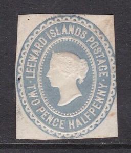 Leeward Island Victoria 2.5d Embossed Postal Stationary Cutout  VGC