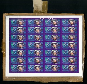 Russia Woman In Space Stamp Sheet Protected