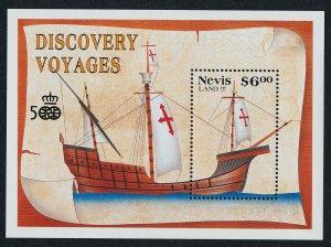 Nevis 662-3 MNH Christopher Columbus, Sailing Ships
