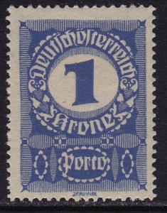 Austria - 1921 - Scott #J184 - mint - Numeral