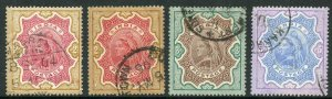 India SG107/9 1895 Set of 4 (both 3r) Fine used